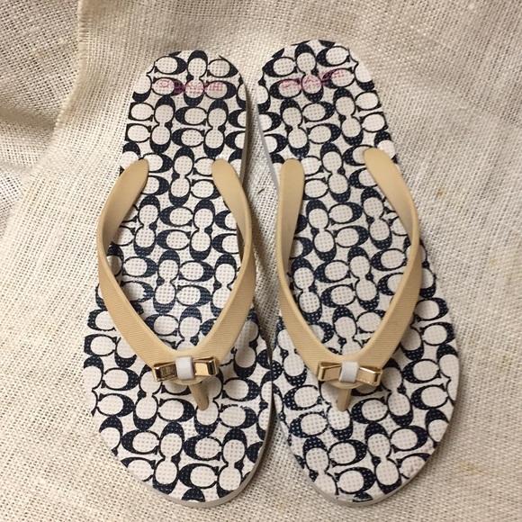 e18f115e887b11 Coach Shoes - Coach Amel Flip Flops Rubber Size 39 9